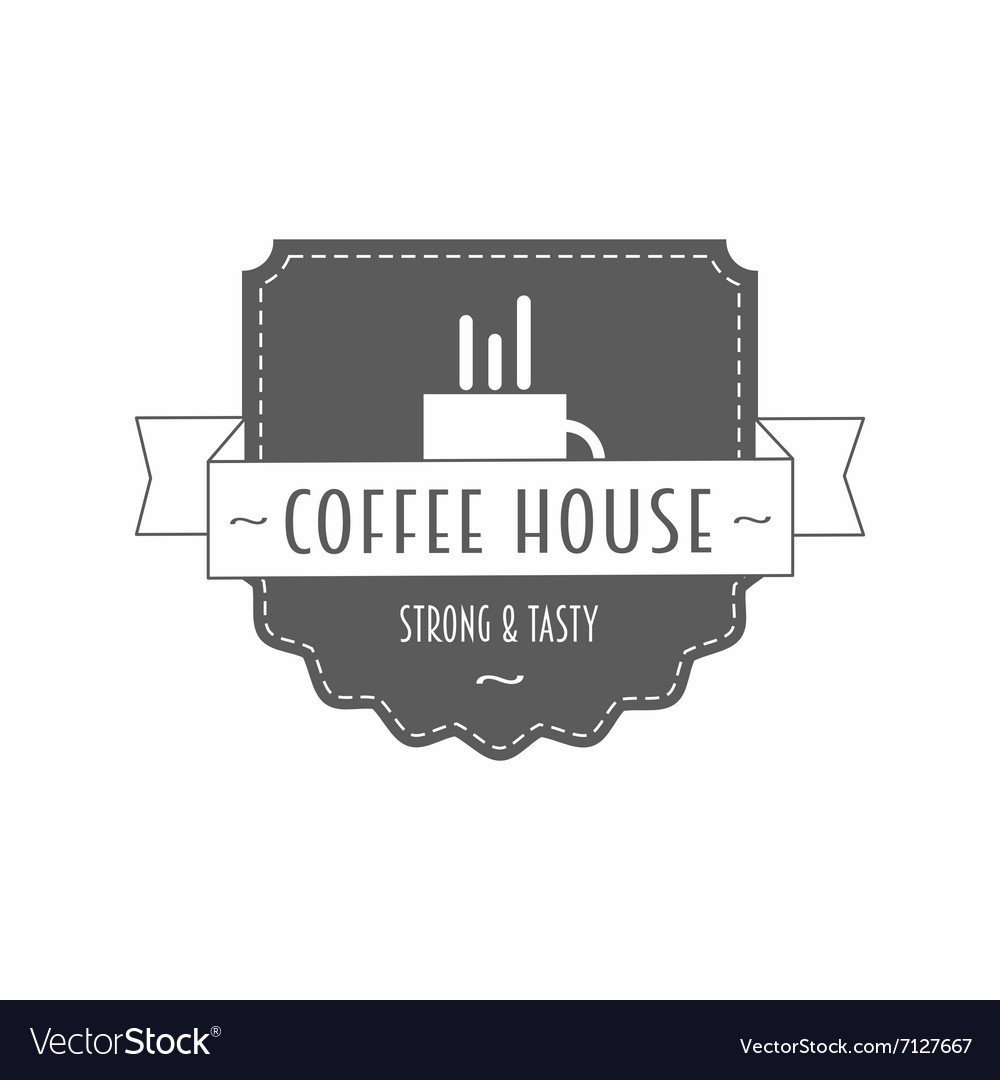 Coffee house - strong and tasty - logo