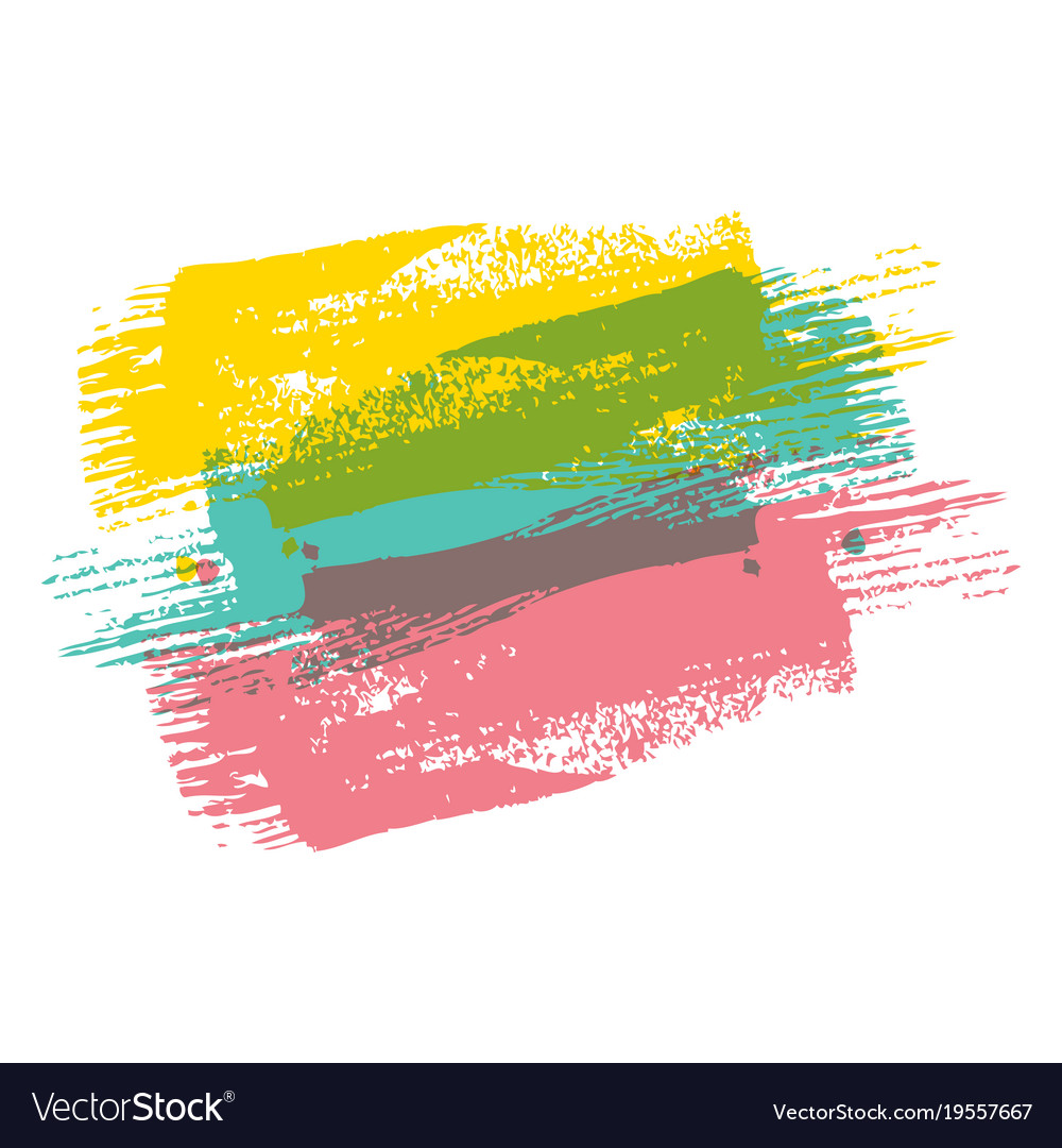 color brush painted watercolor art abstract paint vector image