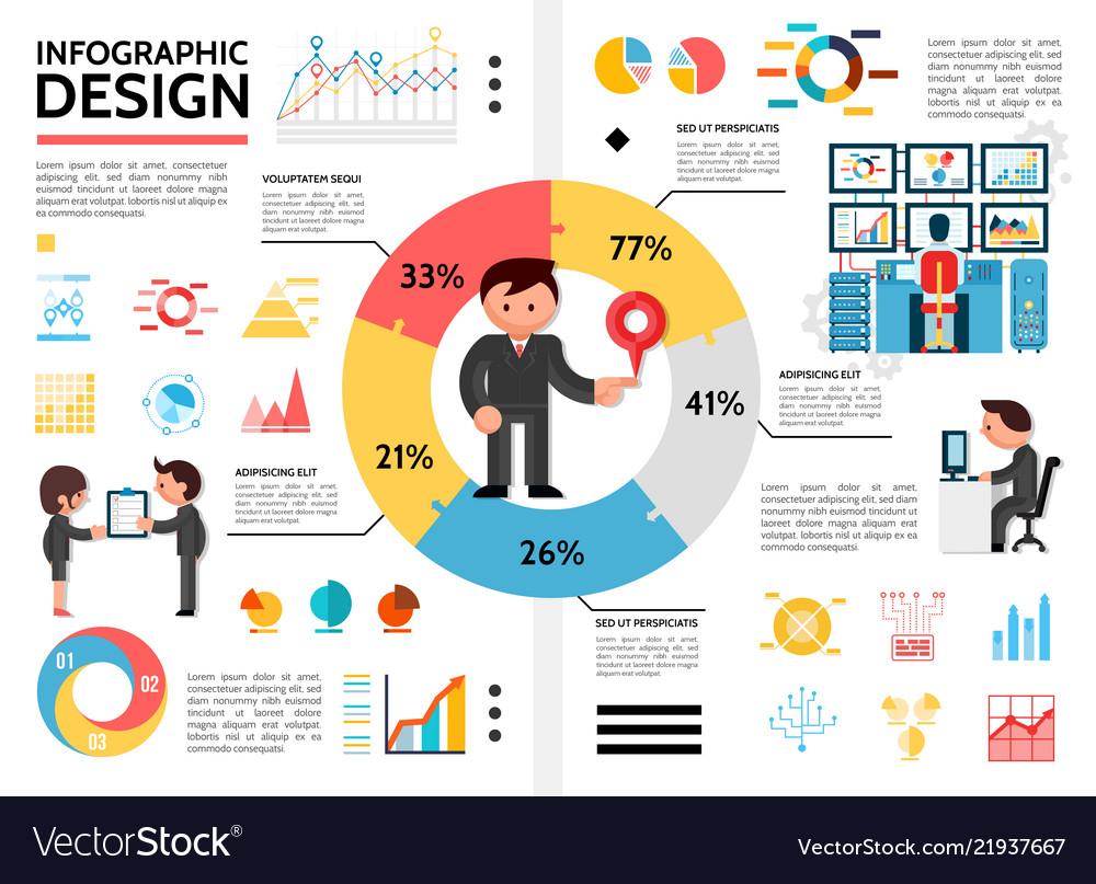 Flat infographic elements concept