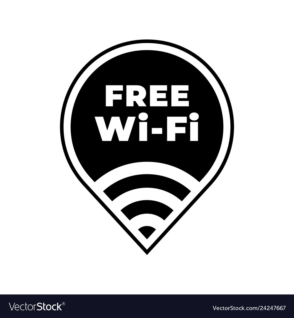 Free wifi zone icon public wi-fi wlan