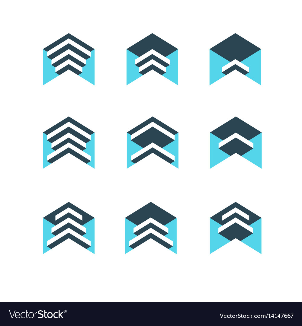 Geometric logo design concept abstract sign vector image