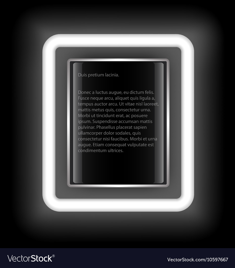 Glowing rectangular frame with space for text on a