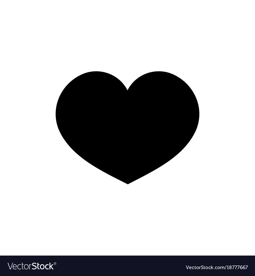 heart black on white background sign vector 18777667
