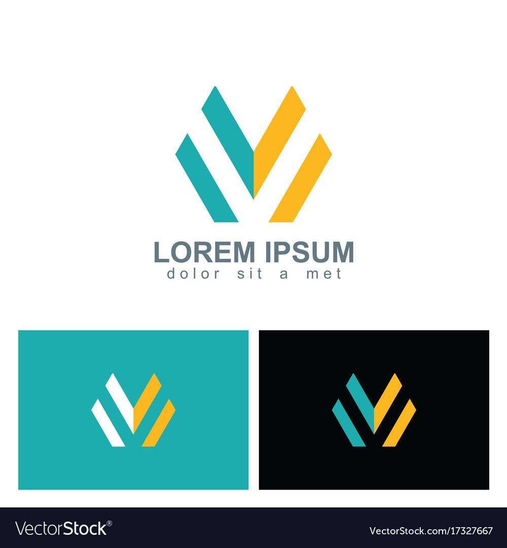 Letter m line company logo
