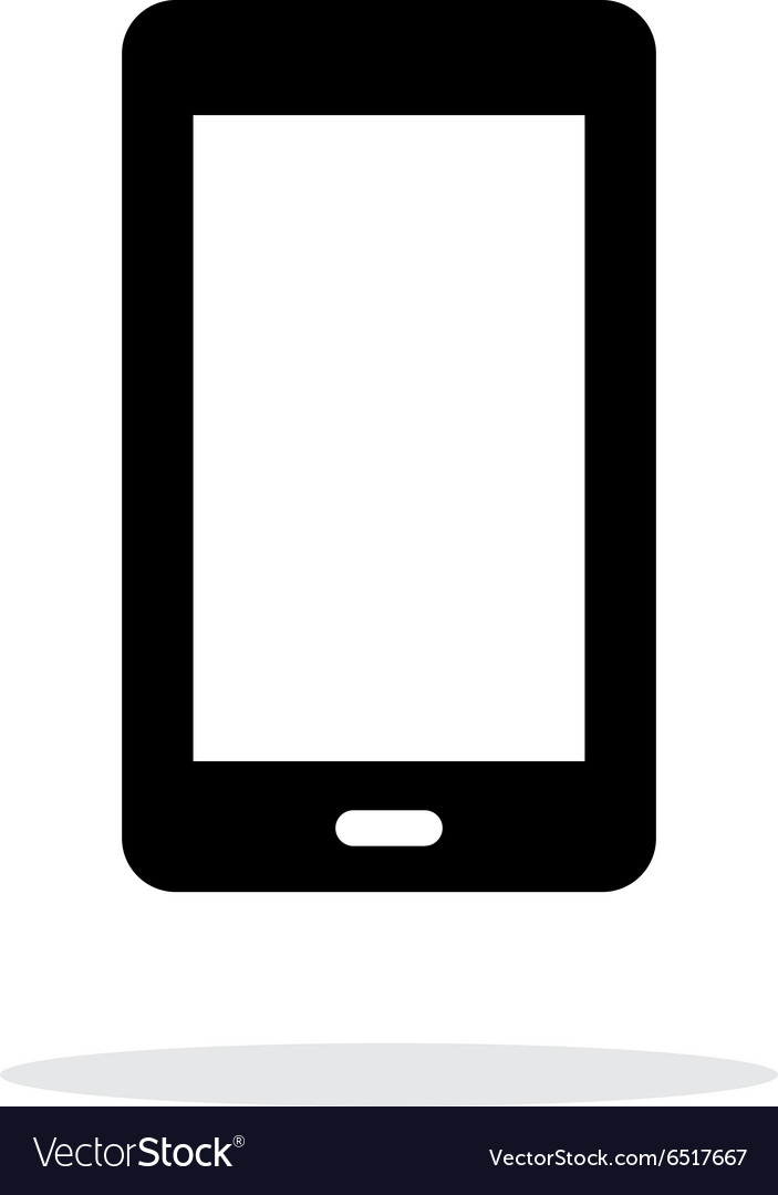Mobile phone simple icon on white background