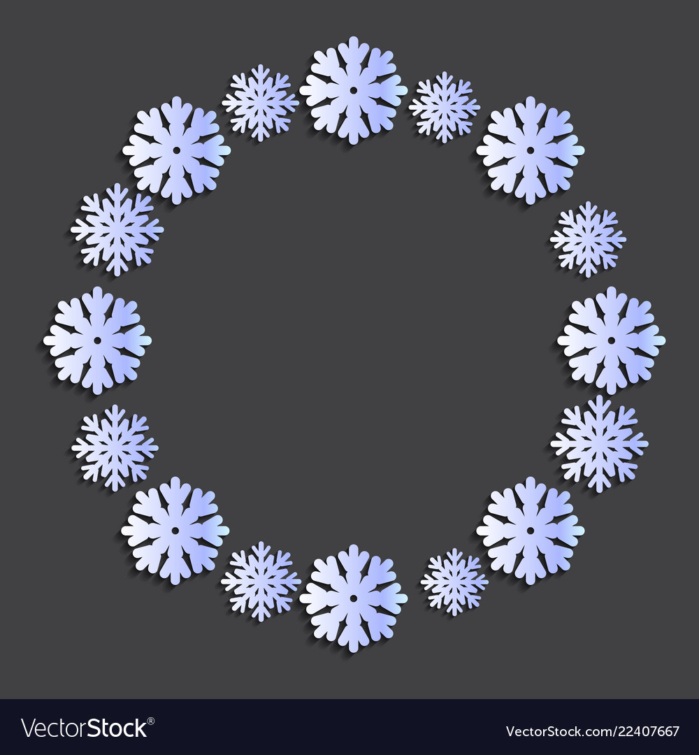 Snowflake papercut wreath