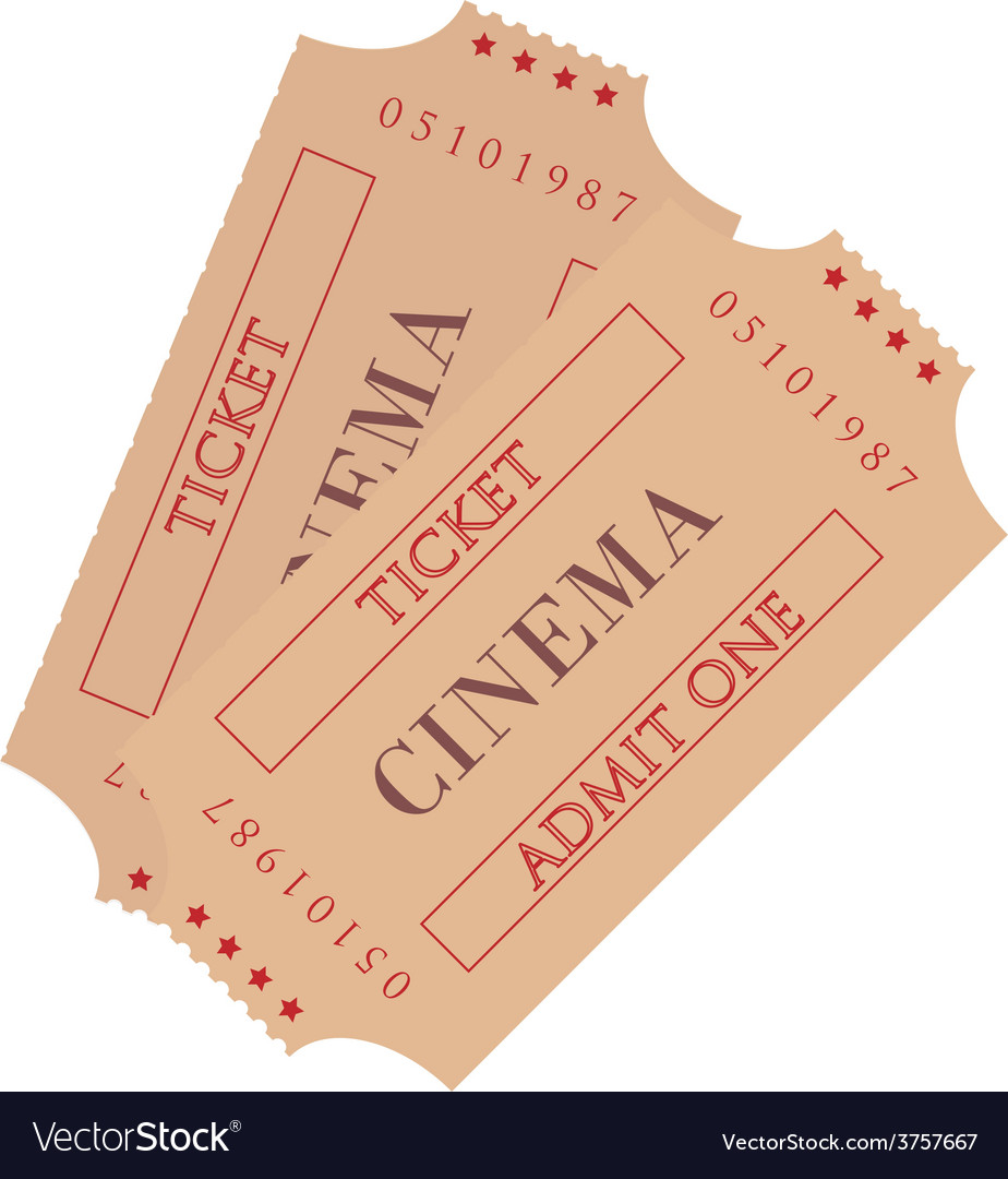 Two cinema ticket vector image