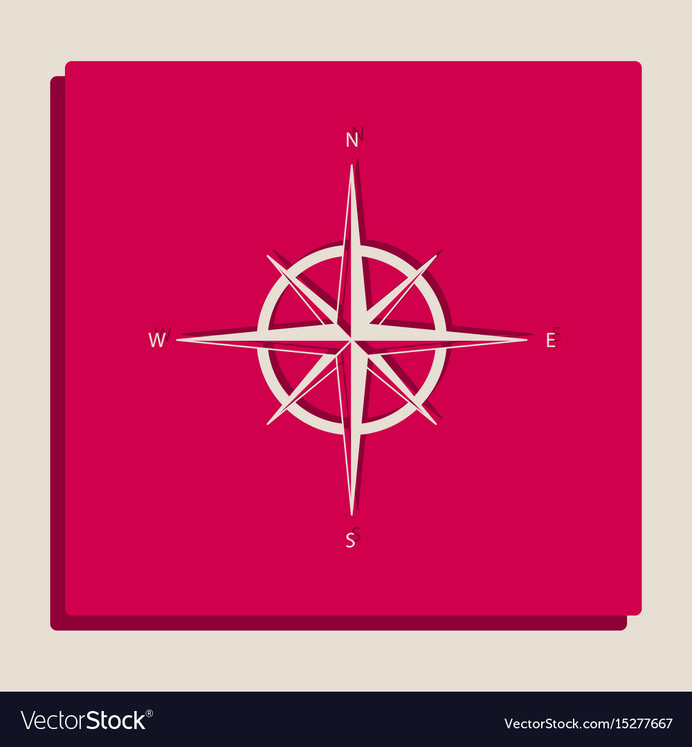 Wind rose sign grayscale version of