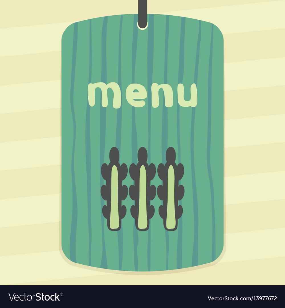 Asparagus outline icon modern infographic logo