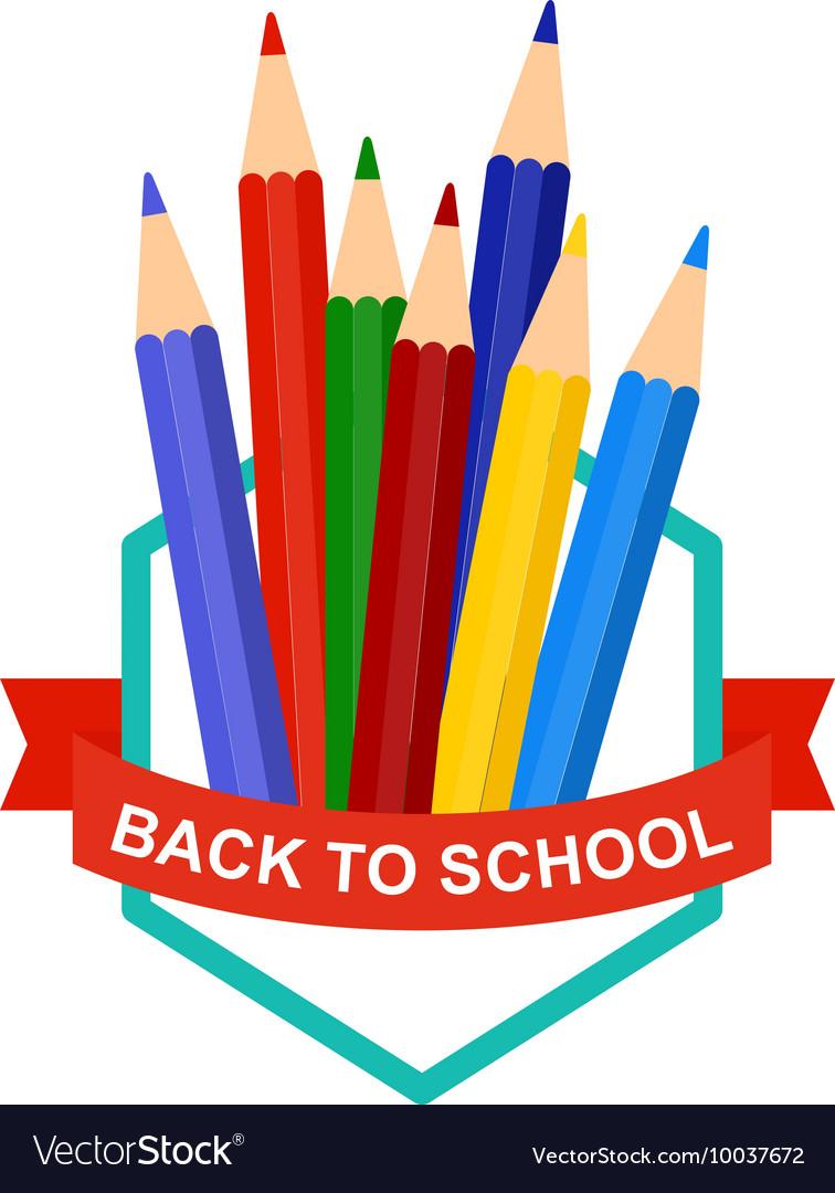 Back To School Pencil Logo