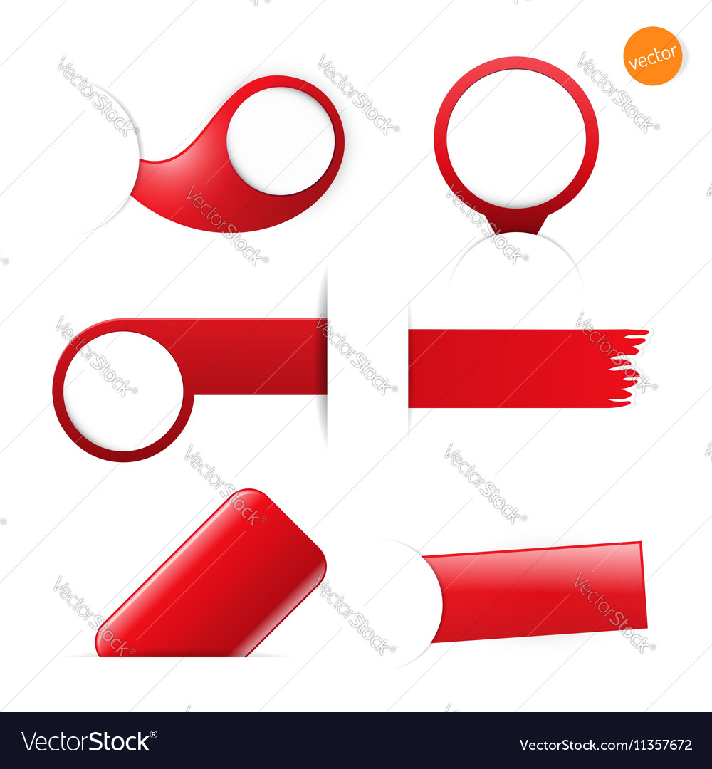 Big set of empty tags with place for you graphic