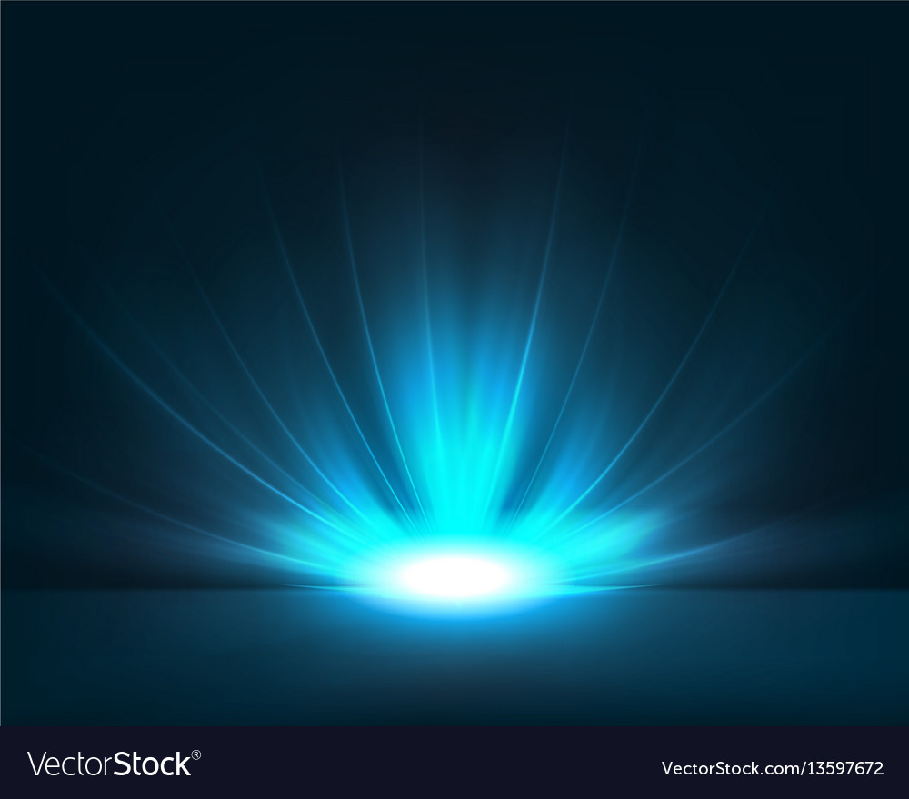 Dark Blue Background With Bright Light Vector Image
