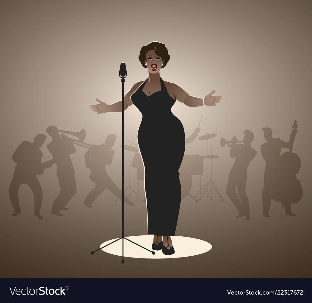 Sexy jazz singer