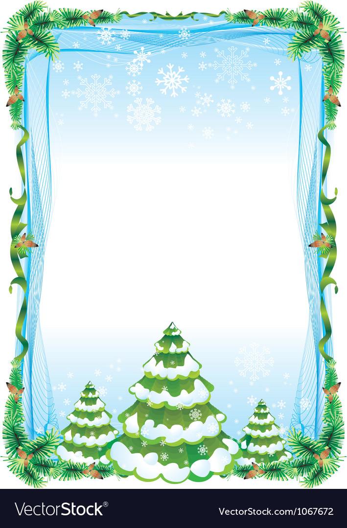 Fraim tree vector image