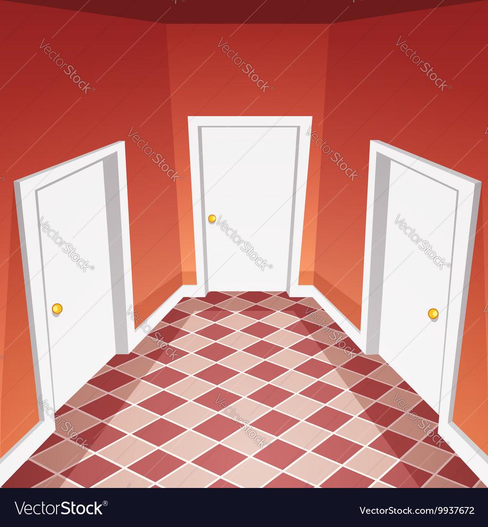 House Hallway vector image