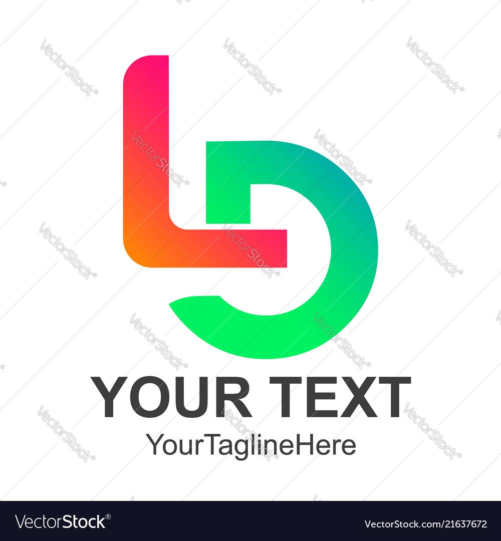 Initial letter ld initial alphabet logo design
