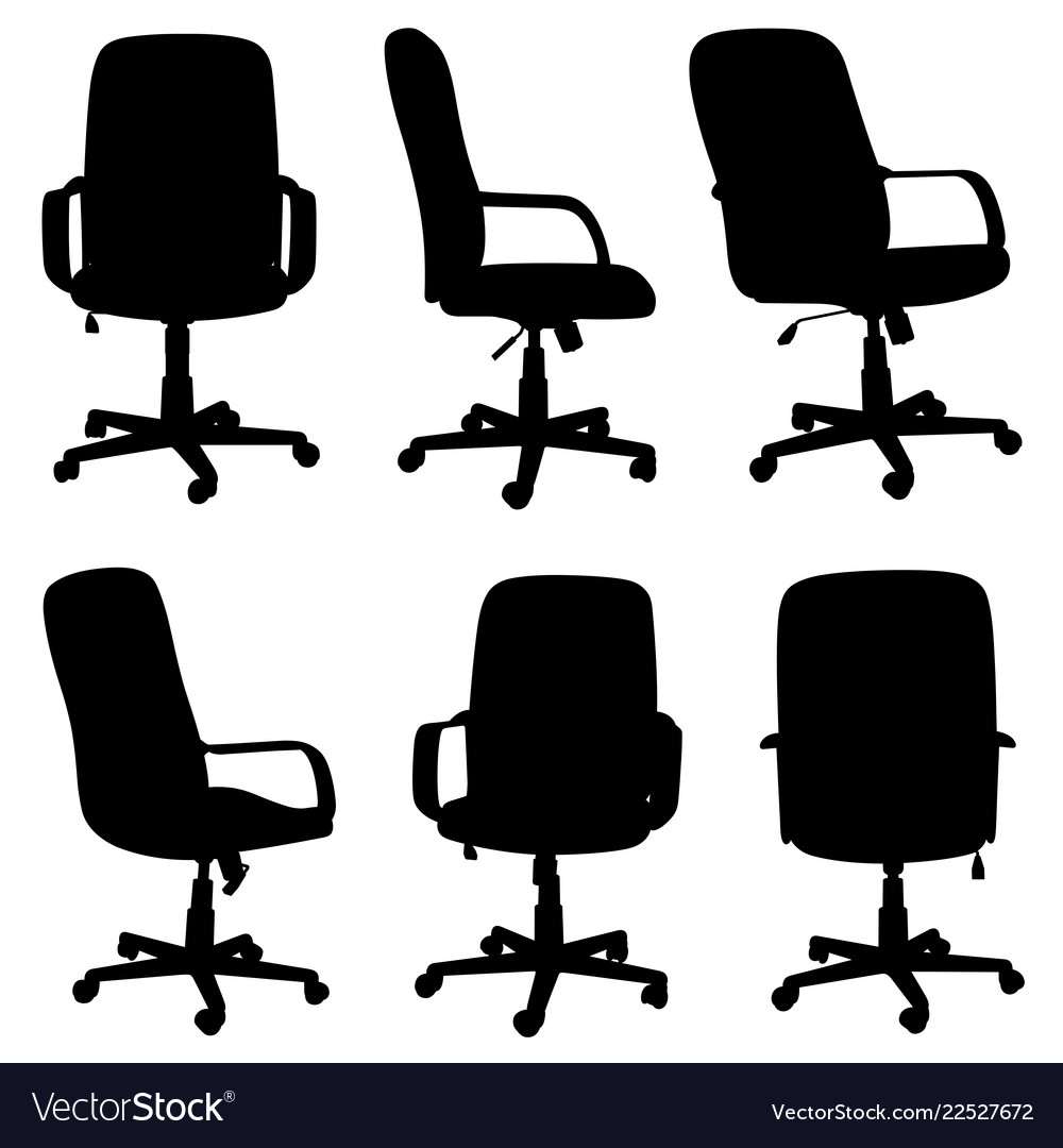 Set of different office chairs