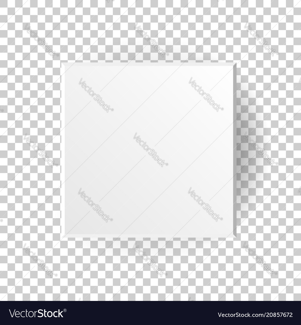 White blank package cardboard box icon in flat