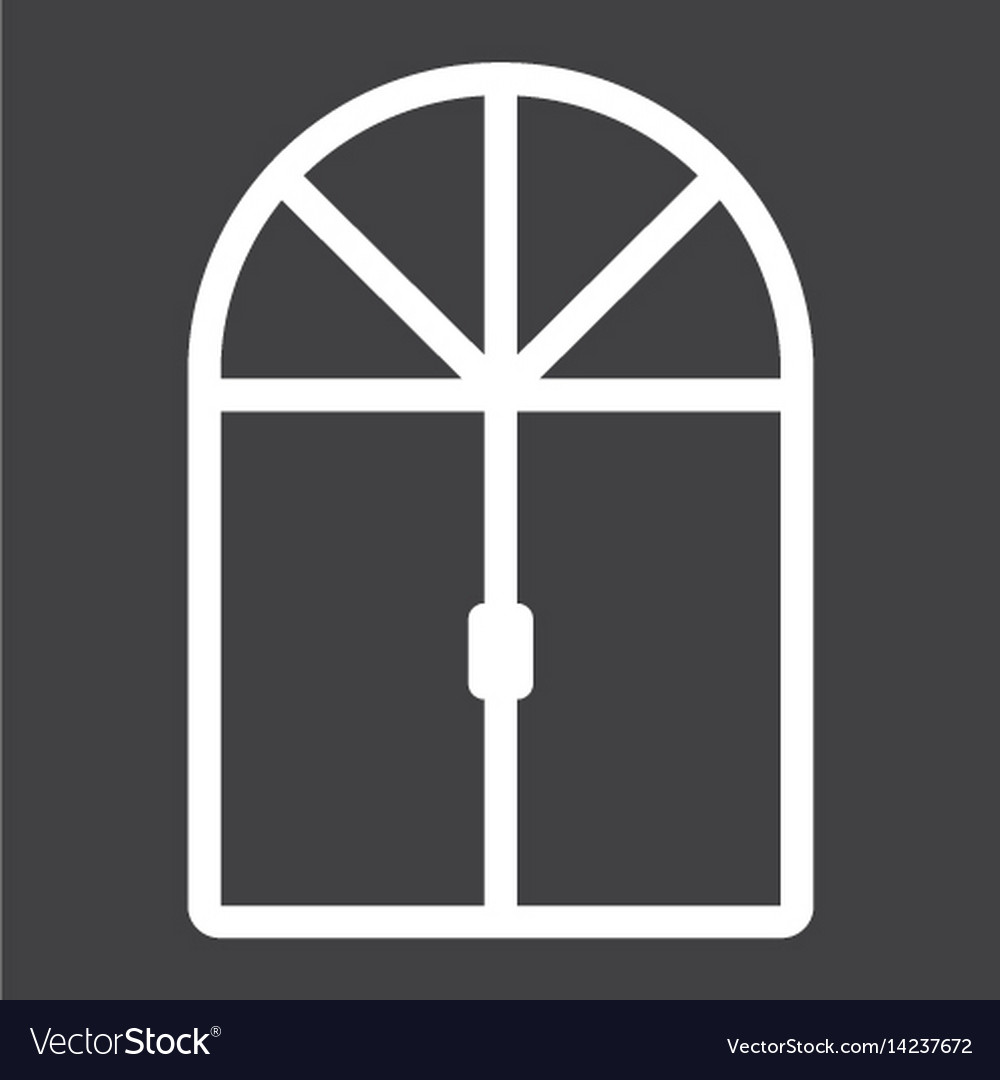 Window line icon furniture and interior vector image