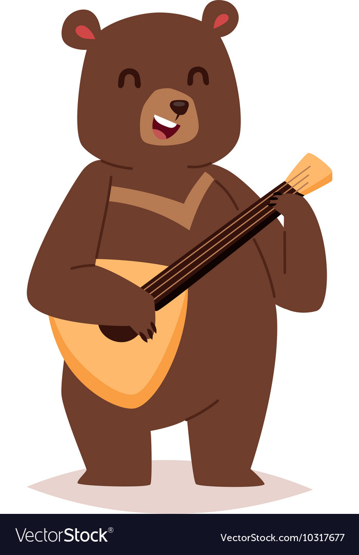 Cartoon bear haracter