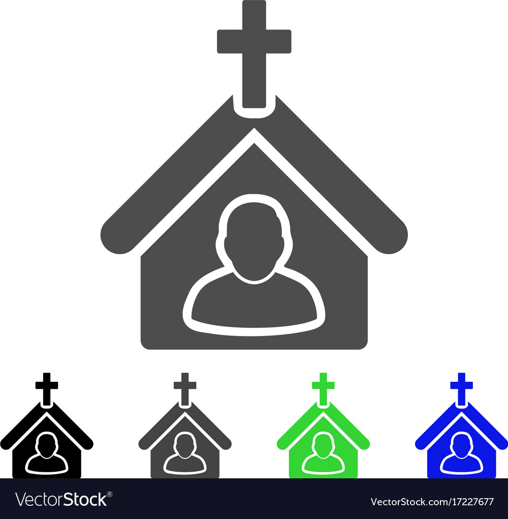 Church person flat icon
