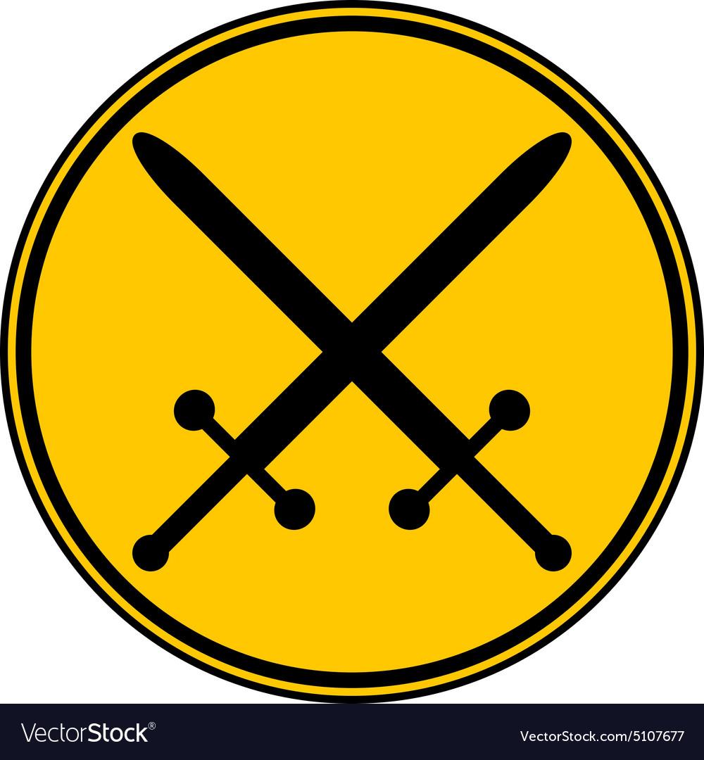 Crossed swords button