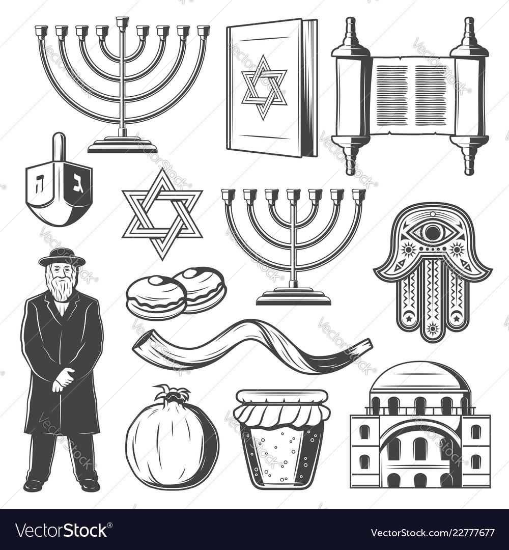 Judiaism icons and symbols