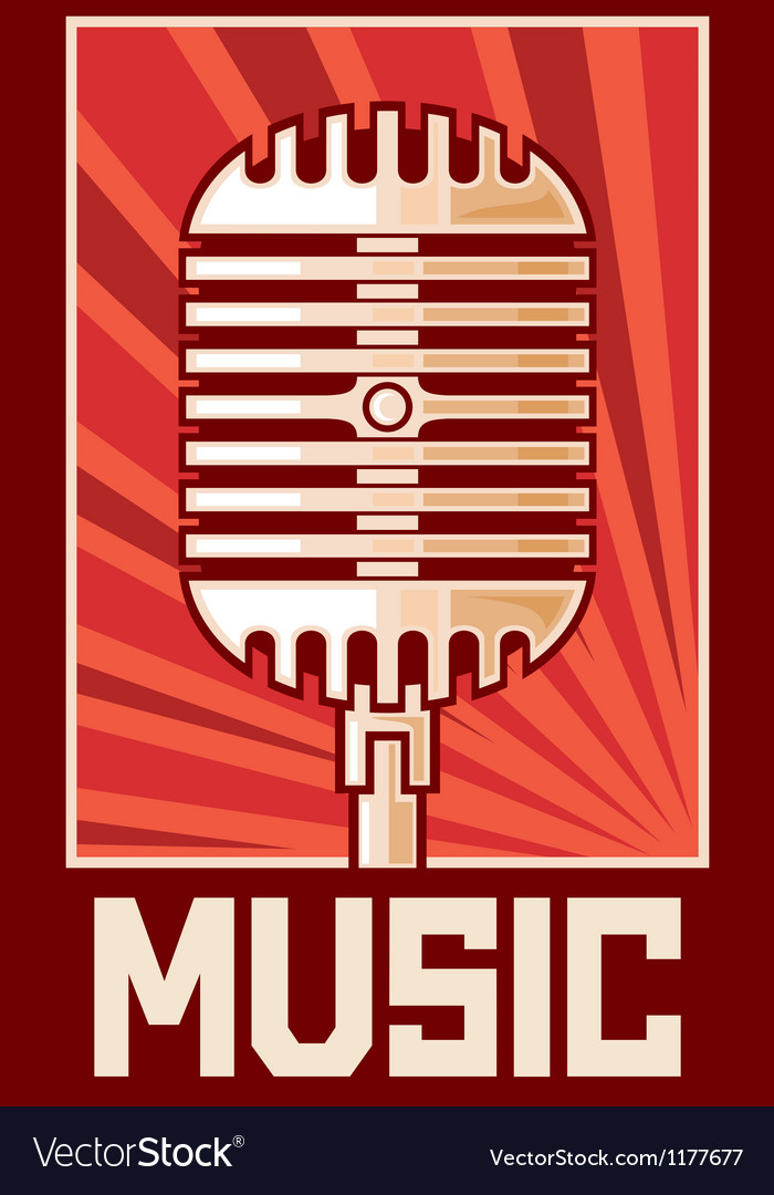 Music poster-microphone
