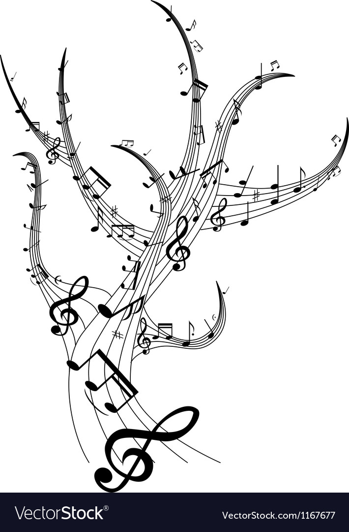 Music tree vector image