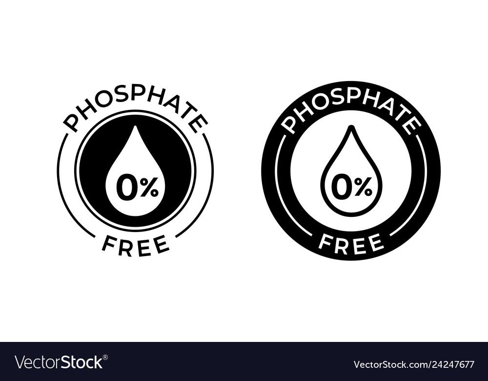 Phosphate free icon phosphate free product label