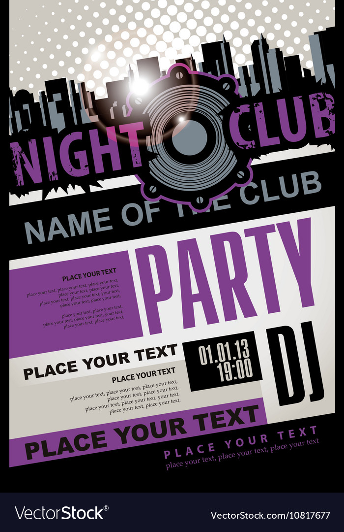 Playbill for the musical party in night club