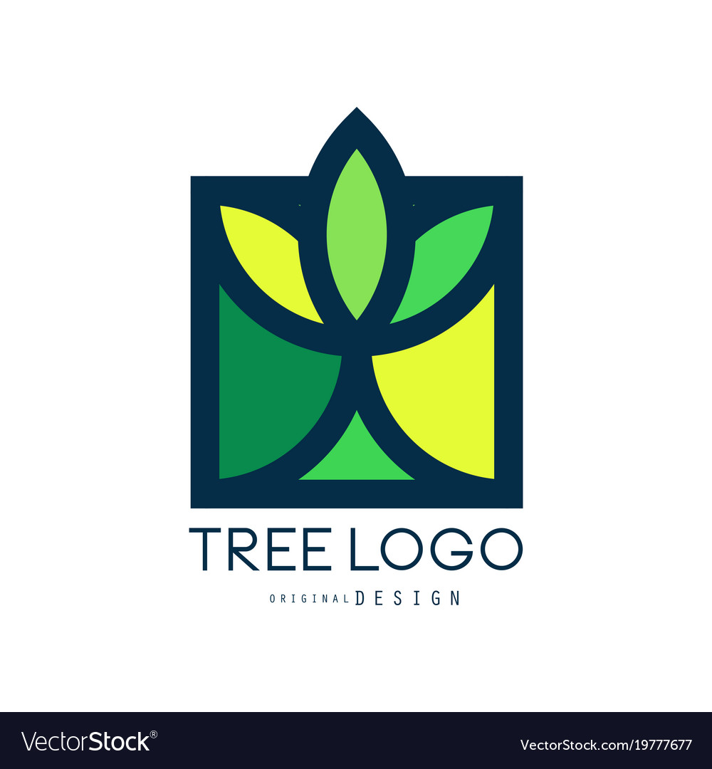 Tree logo original design green eco bio badge