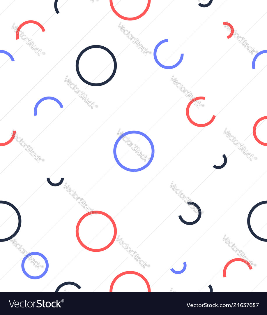 Abstract circle line pattern