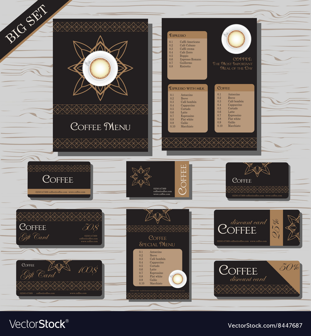 Restaurant cafe menu template set