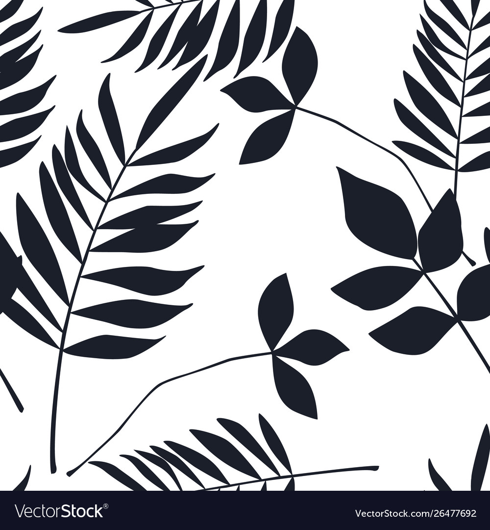 Abstract botanical seamless pattern herbal