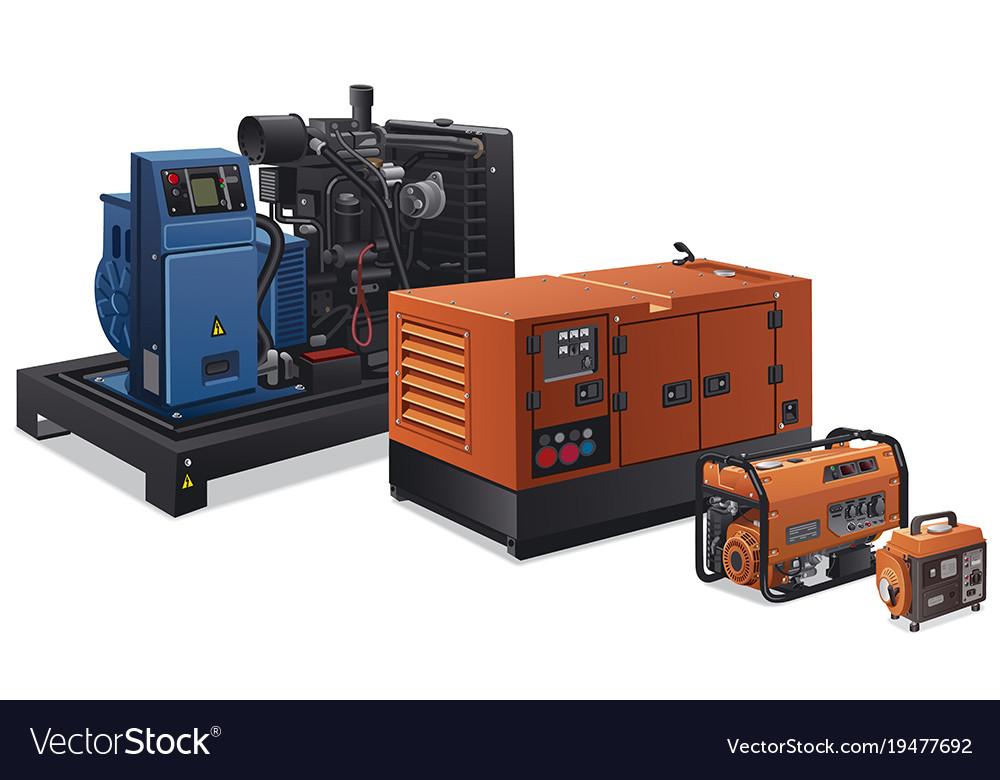 industrial power generators cartoon power industrial power generators vector image royalty free vector image