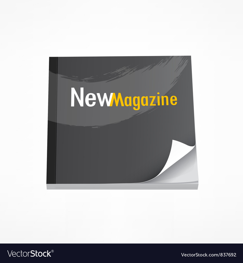 New Magazine Blank Page Template Royalty Free Vector Image