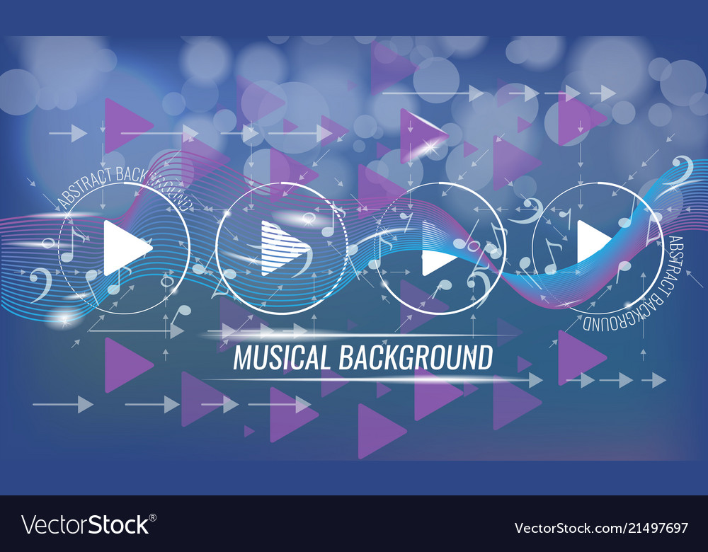 Abstract musical futuristic background with arrows