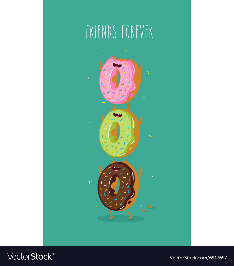 Funny donuts vector image