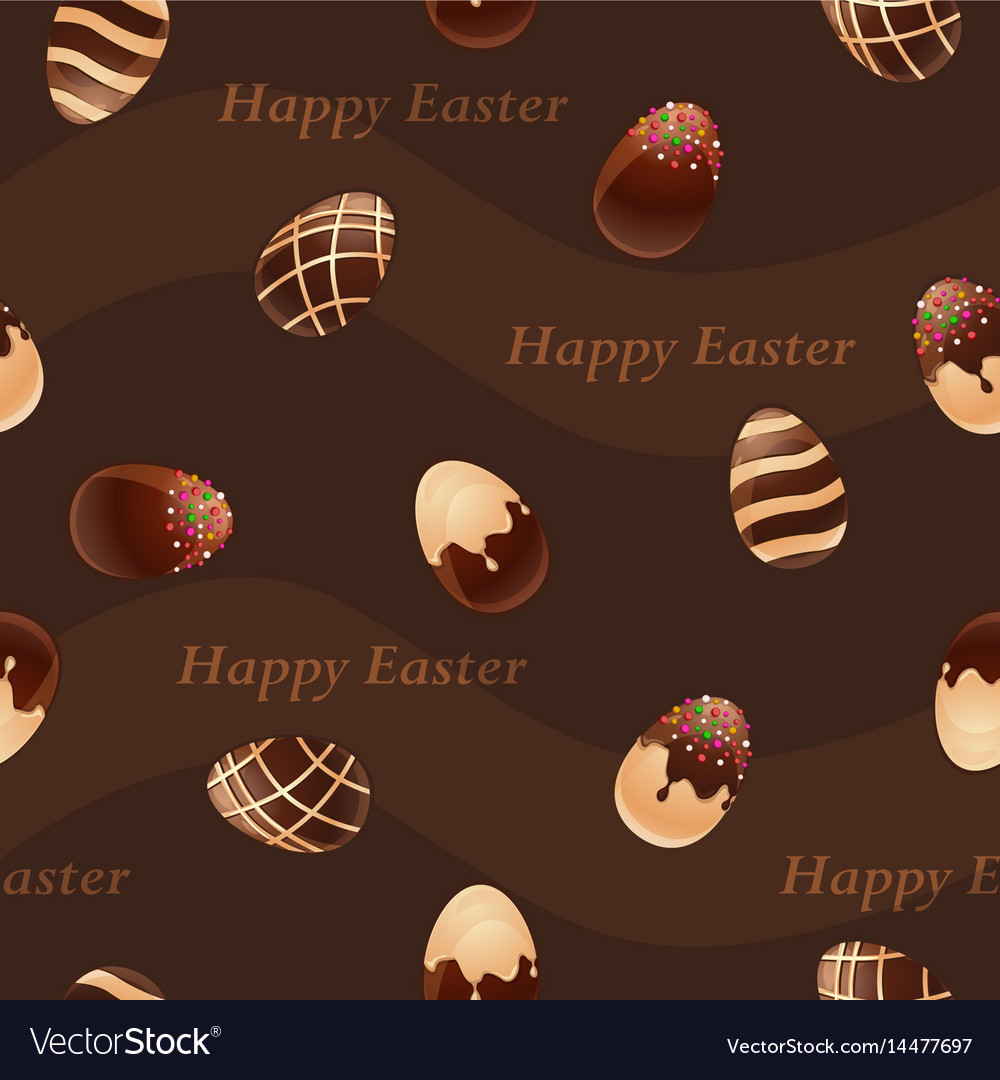 Happy easter-chocolate eggs seamless pattern