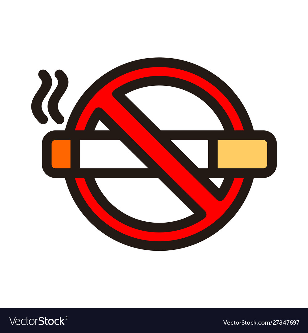 No smoking icon isolated on white background from