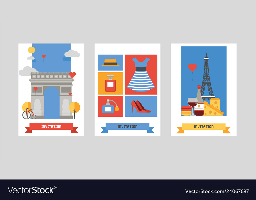 Paris pattern french culture eiffel tower and