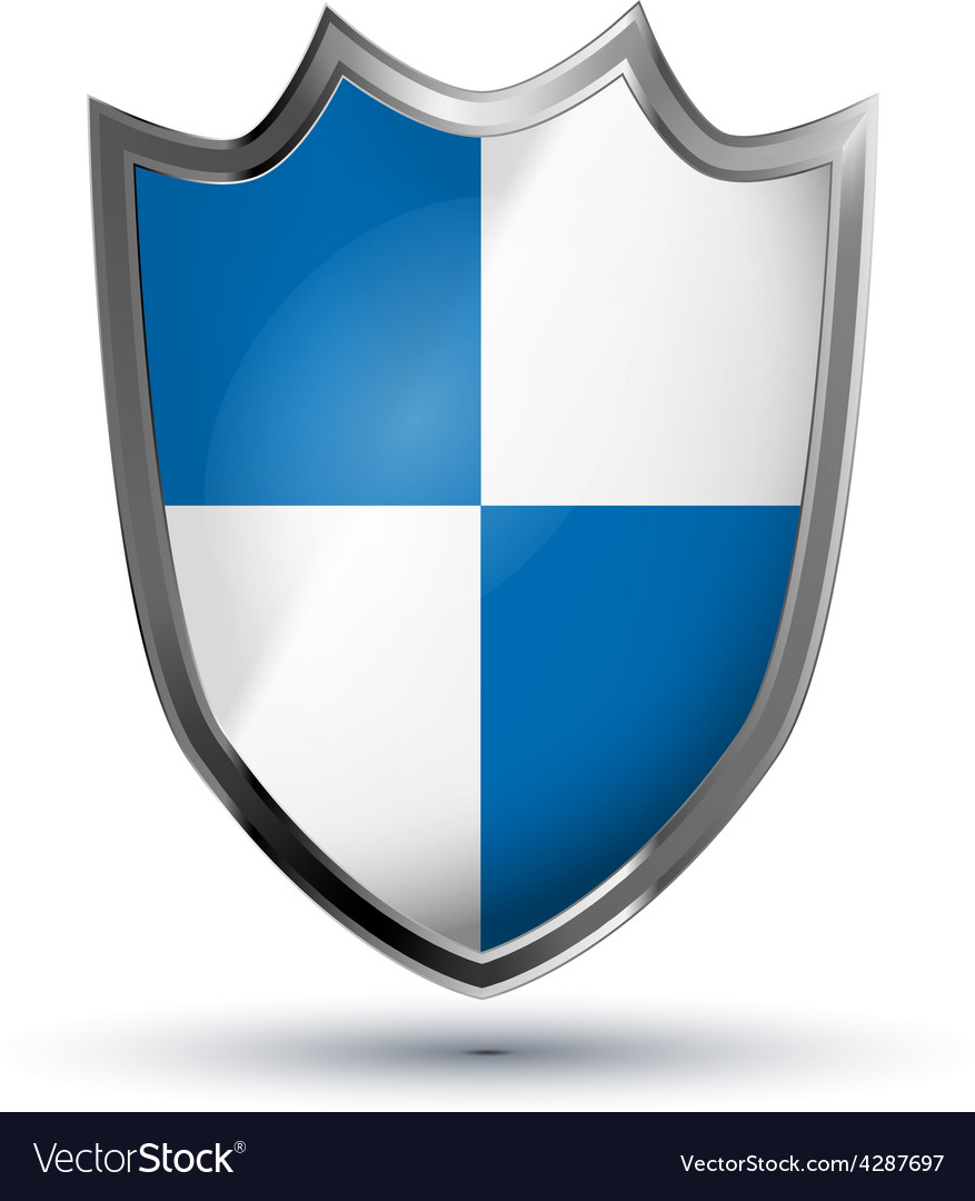 Protection shield glossy icon isolated on