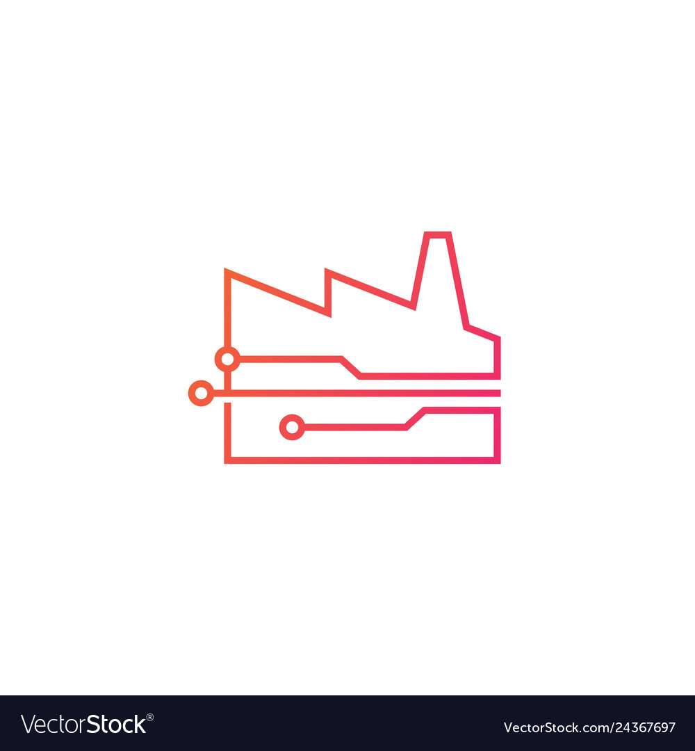 Smart factory tech logo icon