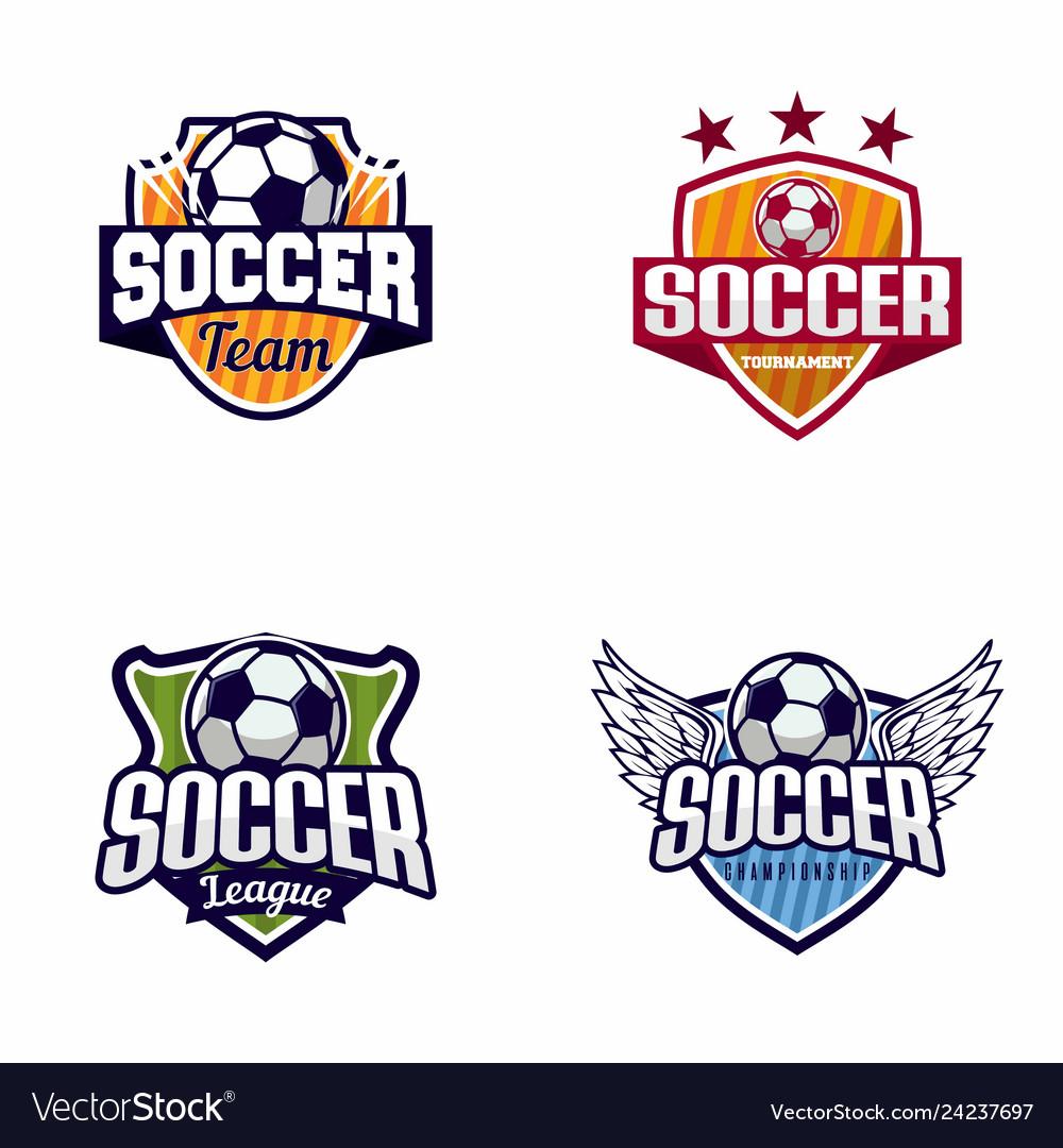 Soccer football logo badge