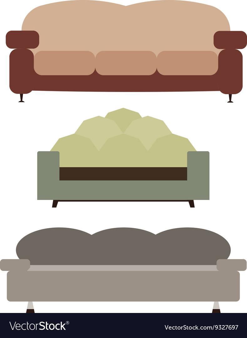 Sofas Set Flat