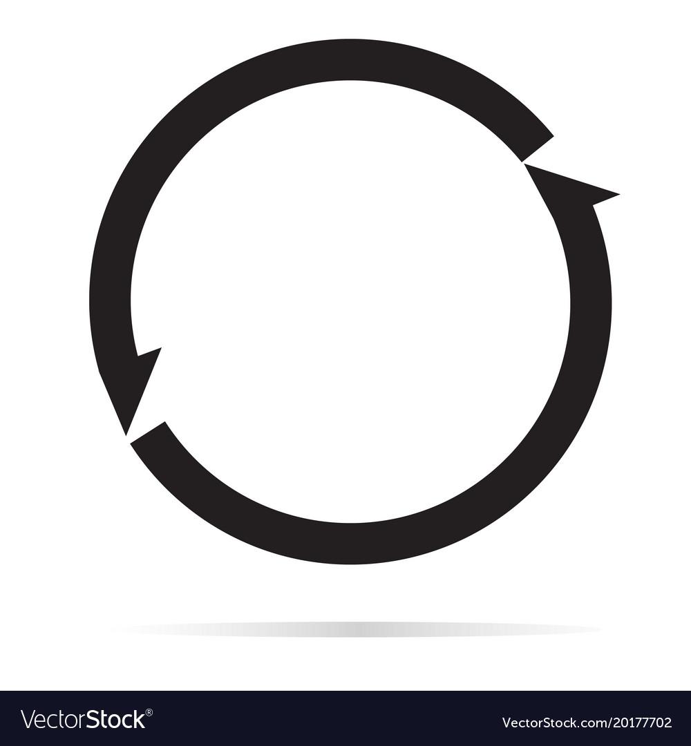 Arrow icon on white background arrow sign flat