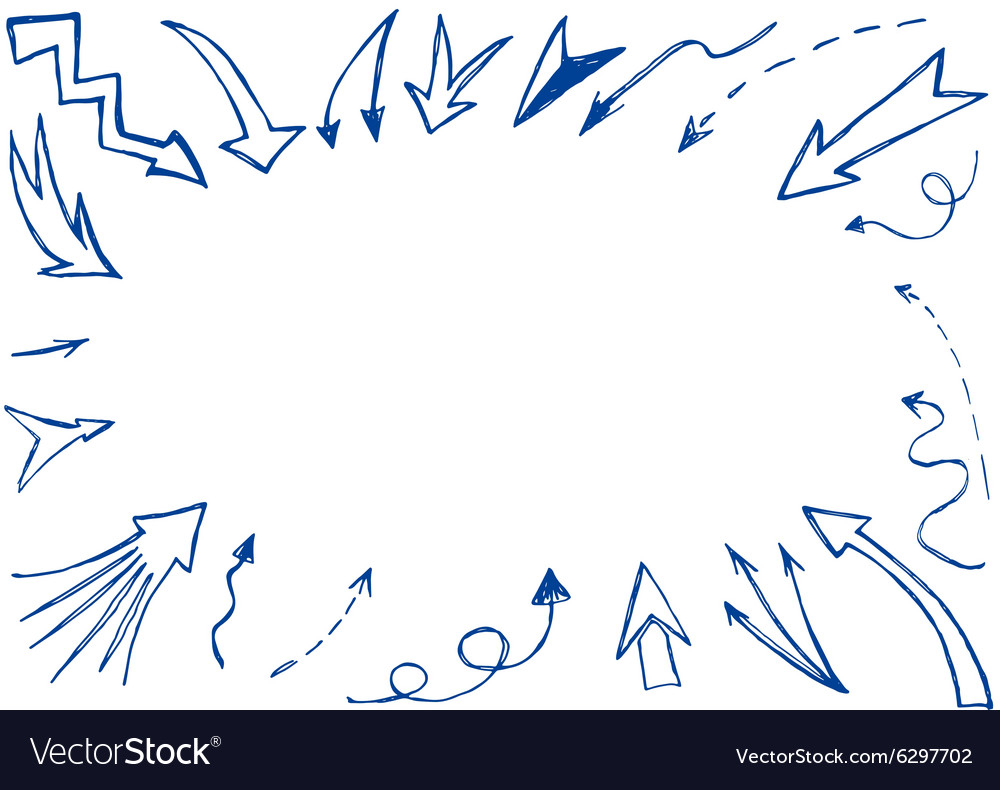 Hand drawn arrows background vector image
