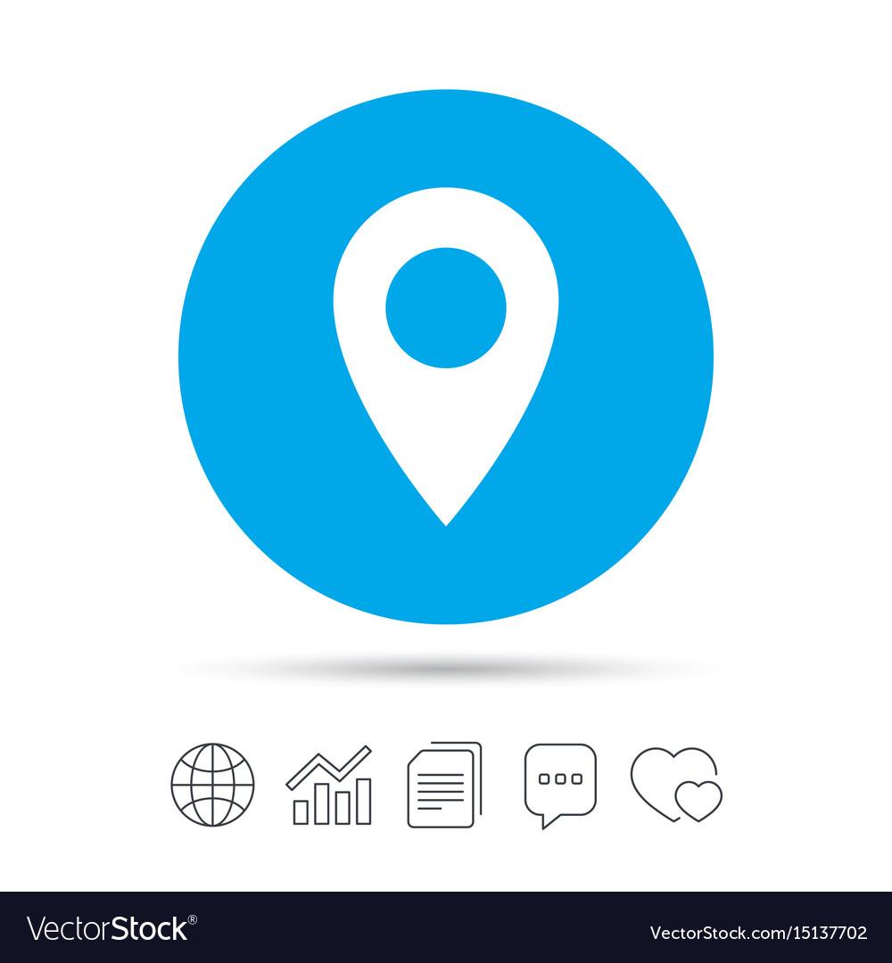 map pointer icon gps location symbol royalty free vector