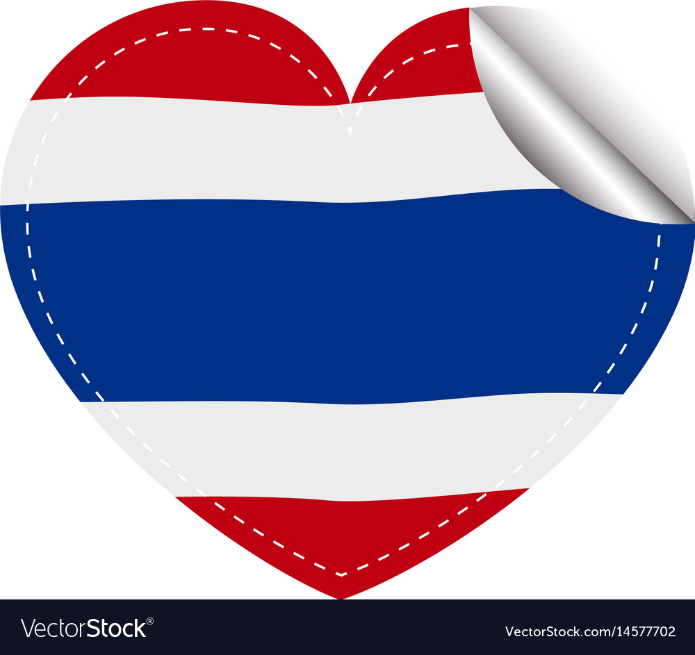 Sticker template for thailand flag